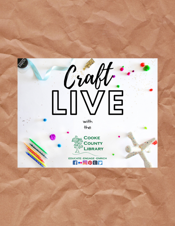 FaceBook Live Craft Live for Adults @ Cooke County Library   Gainesville   Texas   United States